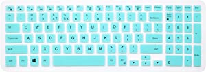 """Silicone Dell Keyboard Skin for 15.6"""" Dell Inspiron 15 3000 5000 7000 Series; 15.6 inch Dell G3 G5 G7 Series; 17.3"""" Dell Inspiron 17 5000 Series; 17.3"""" Dell G3 Series (with Numeric Keypad) Mint Green"""
