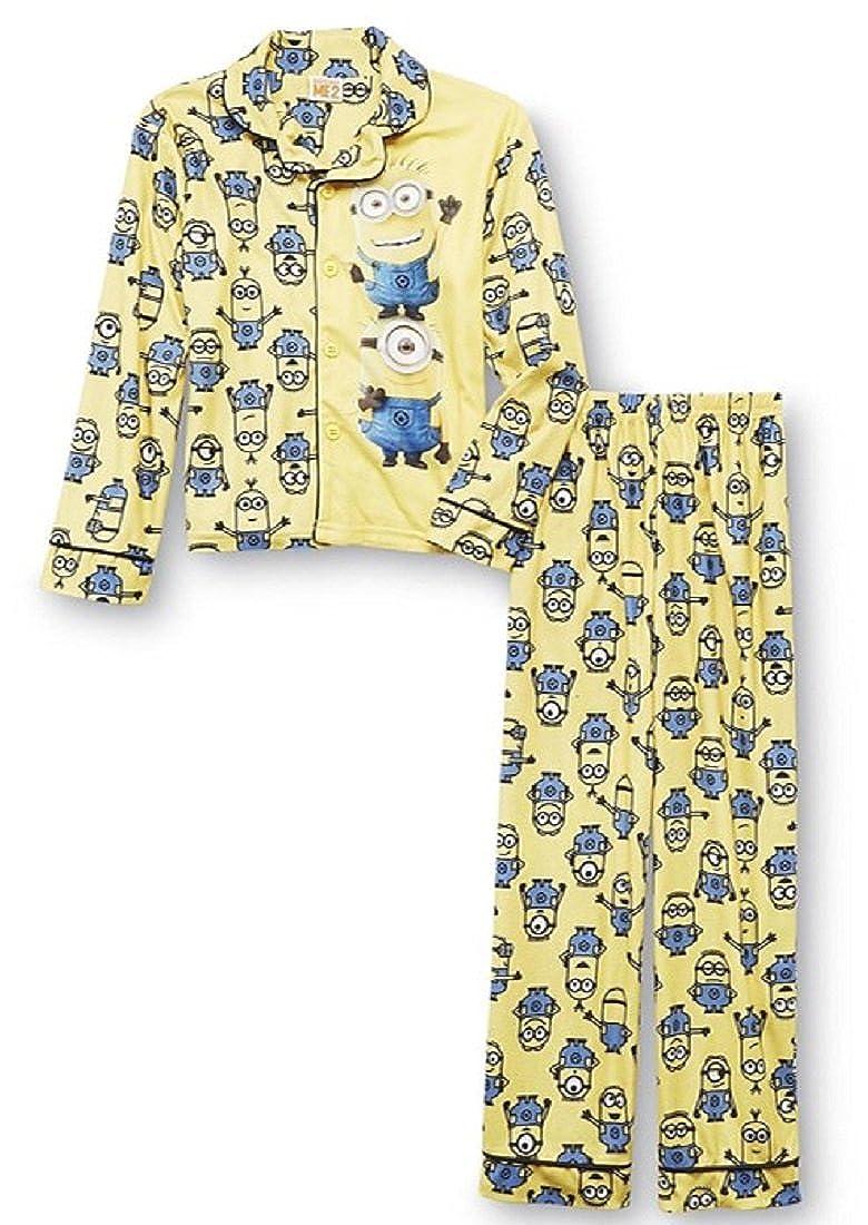 59d61239df7a Amazon.com  Boy s Licensed 2-pc Flame Resistant Button-Front Long Sleeve  Pajama Top   Pants Set (6