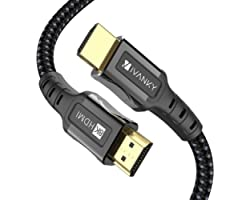 8K HDMI Cable for PS5, iVANKY HDMI 2.1 Cable 8K@60Hz Ultra HD 48Gbps 8K HDR, 3D, 4320P,2160P, 1080P, Ethernet - Zinc Alloy Sh