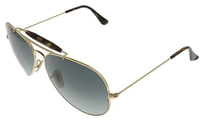 f3b1038cb Image Unavailable. Image not available for. Color: Ray Ban Sunglasses  Outdoorsman II Aviator Unisex Browbar Enhanced ...