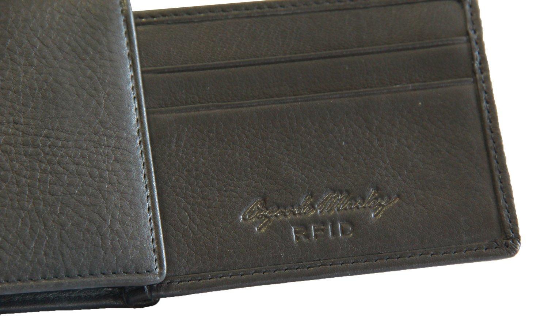 Black LYSB00UTY6TM0-OFFSUPPLIES Osgoode Marley RFID Flipfold Mens Leather Wallet