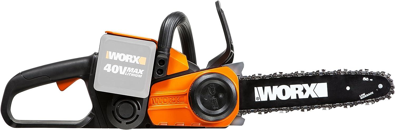Worx wg368e.940V batería Sierra de cadena, 30cm Longitud de corte, cadena Lubricación, velocidad 3,8m/s, Sin batería, cargador y accesorios