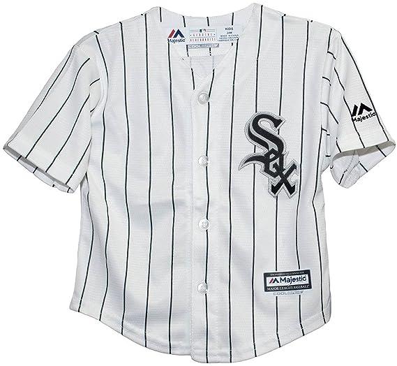 c2473d648 Majestic Kid s Chicago White Sox White Black Baseball Jersey (Small ...