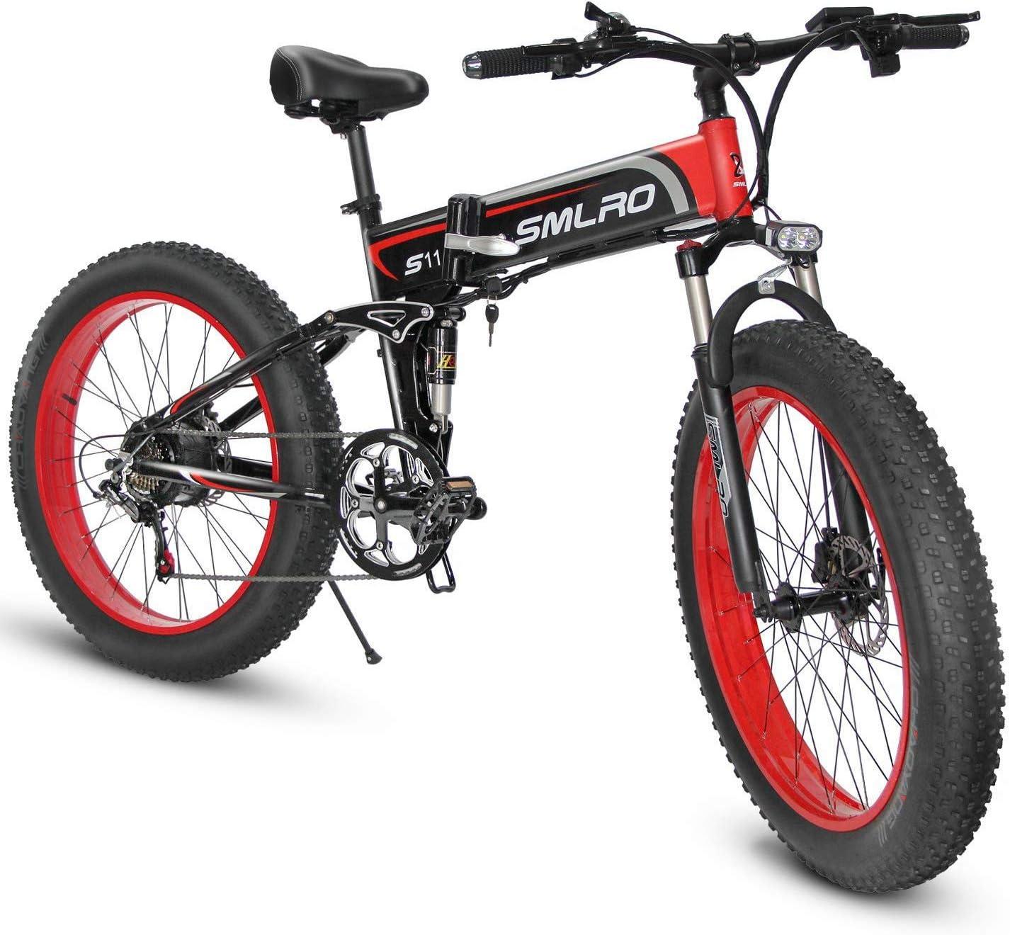 XXCY - Bicicleta eléctrica plegable (500 W, 20 pulgadas x 4 pulgadas, neumáticos grasos, 48 V, 15 Ah, pantalla LCD), 26 Orange: Amazon.es: Deportes y aire libre