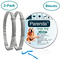 Dog Flea and Tick Collar,Flea and Tick Treatment and Prevention for Dogs up to 8...