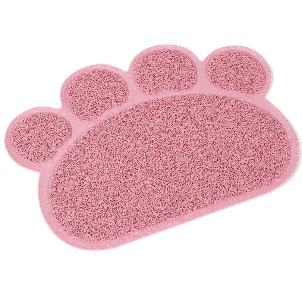 UEETEK Alfombrilla para Comederos de Perros y Gatos Antideslizante Estera para Mascota 30x40cm (Rosa): Amazon.es: Hogar