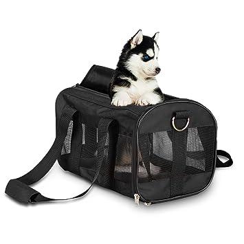 Poppypet Bolso de transporte para perros y gatos Divina negro, Bolsos Viaje para Perros Pequeños, Bolsos para Llevar Gatos Negro: Amazon.es: Hogar
