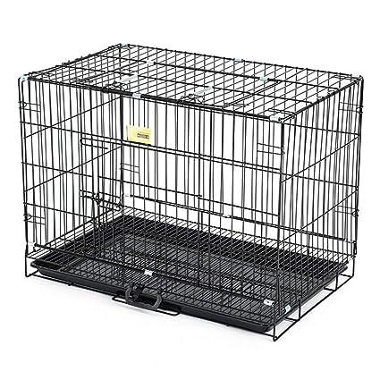 Jaula perro transportin Perro Gato Cajón Plegable para Perros - Metal, Perrera Grande para Mascotas