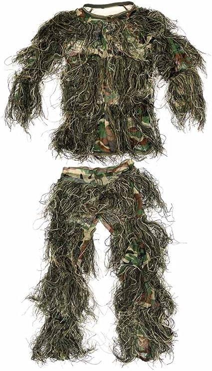 ABCAMO Kids Woodland Camouflage 4 Pieces Ghillie Suit
