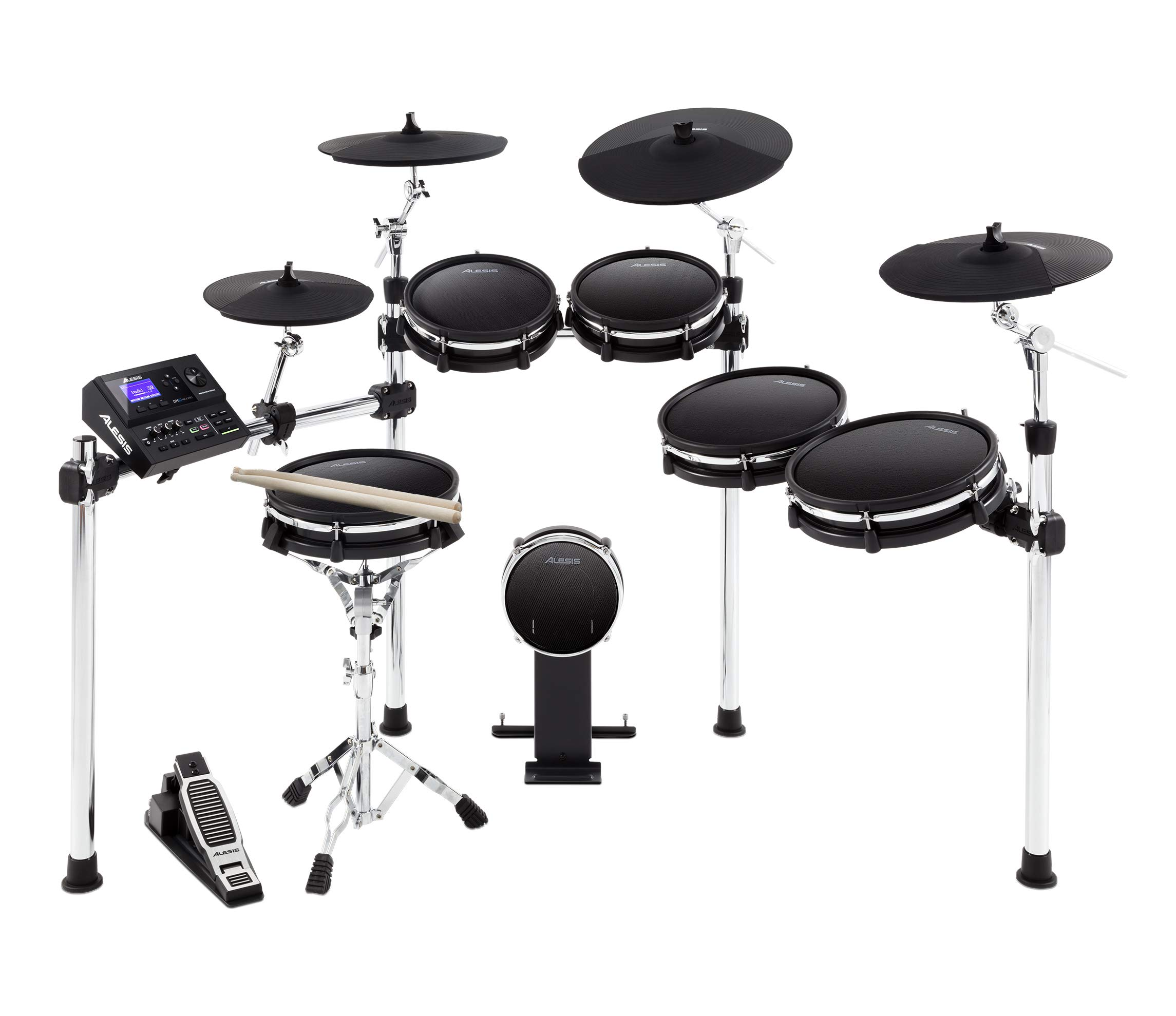 Alesis DM10 MKII Pro Kit | Ten-Piece Electronic Drum Kit with Mesh Heads by Alesis