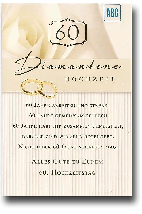 Gluckwunschkarte Zur Diamantenen Hochzeit Alles Gute Zu Eurem 60