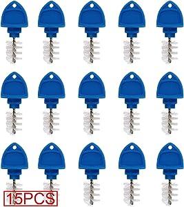 CRBrewBeer 15 Pack Beer Tap Plug Brush, Beer Faucet Brush Plugs,Beer Faucet Tap Cleaning Plug (Blue)