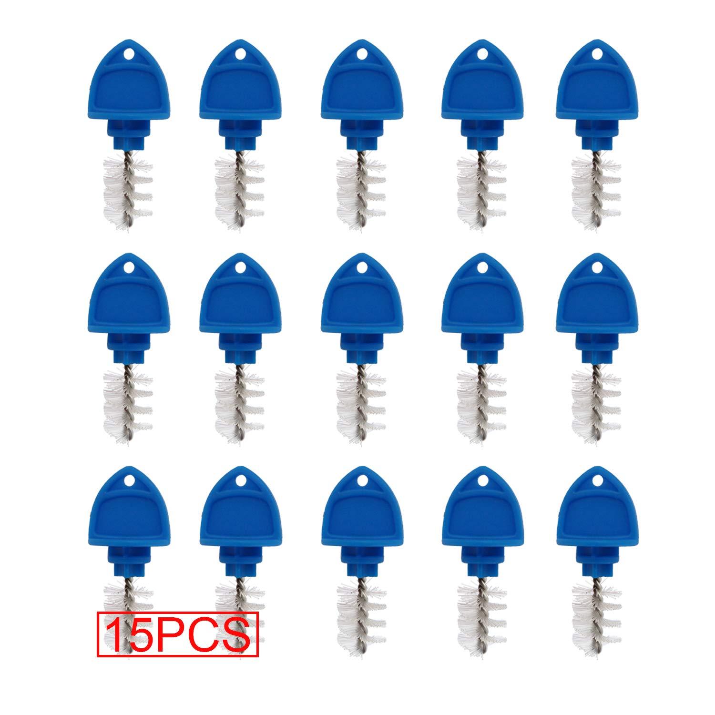 15 Pack Beer Tap Plug Brush, Beer Faucet Brush Plugs,Beer Faucet Tap Cleaning Plug (Blue) by CRBrewBeer