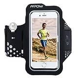 Mpow Fascia Sportiva da Braccio [Garanzia a Vita]  Sweatproof Bracciale per Corsa & Esercizi con Supporto Chiave e Riflettente Armband per iPhone7/6s/6, Samsung Galaxy S7, S6, etc - Nero
