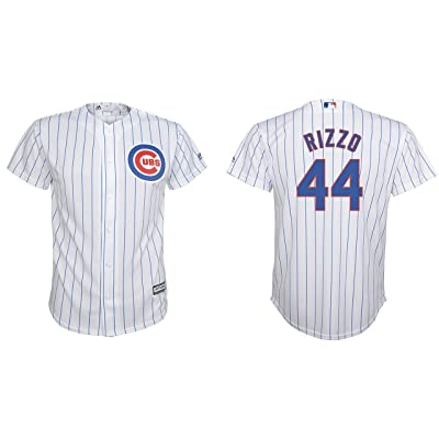 a806d5542 Majestic Anthony Rizzo Chicago Cubs MLB Youth White Home Cool Base Replica  Jersey (Size X-Large 18-20)