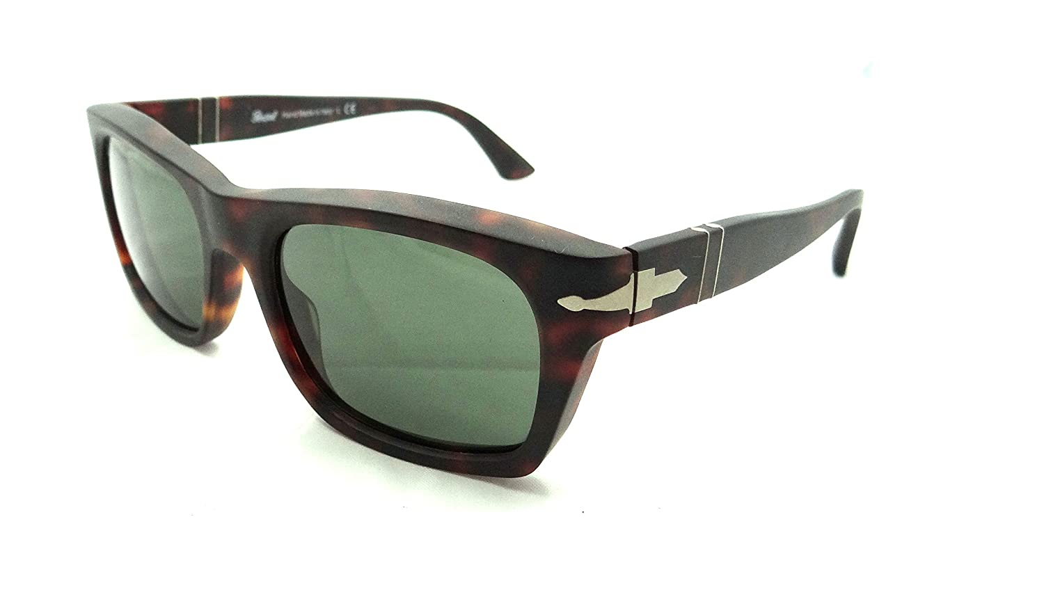 69a89c4e8d Amazon.com  Persol Sunglasses 3065 S 9001 31 52x20 Tortoise   Grey Green  Lens Made in Italy  Clothing
