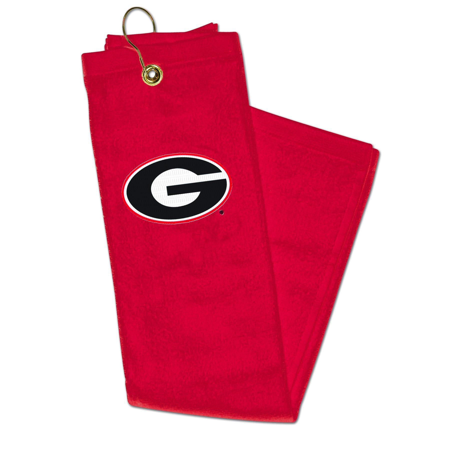 NCAA Georgia Bulldogs Embroidered Golf Towel, 15 x 25-Inch