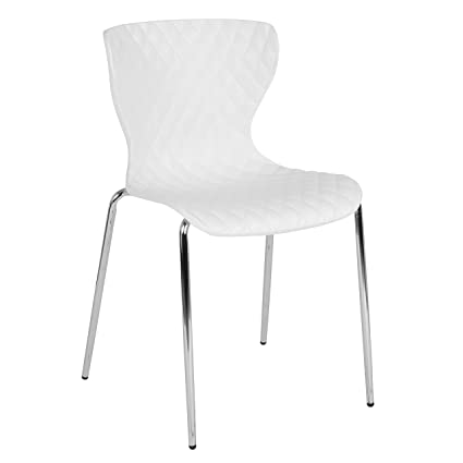 Amazoncom Flash Furniture Lowell Contemporary Design White