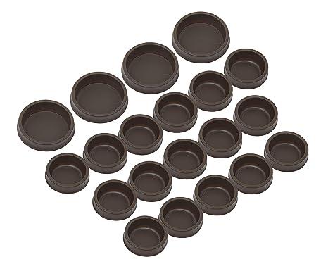 Chocolate Slipstick CB845 M/öbeluntersetzer Rollenuntersetzer Klavieruntersetzer Bodenschutz Kappen Stopper f/ür Rollen mit 50mm bis 56mm 4 St