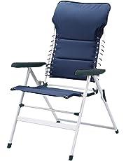 Silla de camping Campart Travel CH-0592 – Acolchada – Cordón elástico – Azul marino
