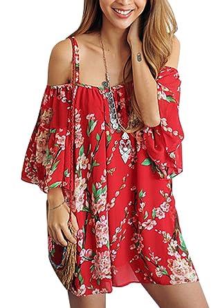 e411748904 Womens Beachwear Swimwear Bikini Beach Wear Cover up Kaftan Shirt (red):  Amazon.co.uk: Clothing