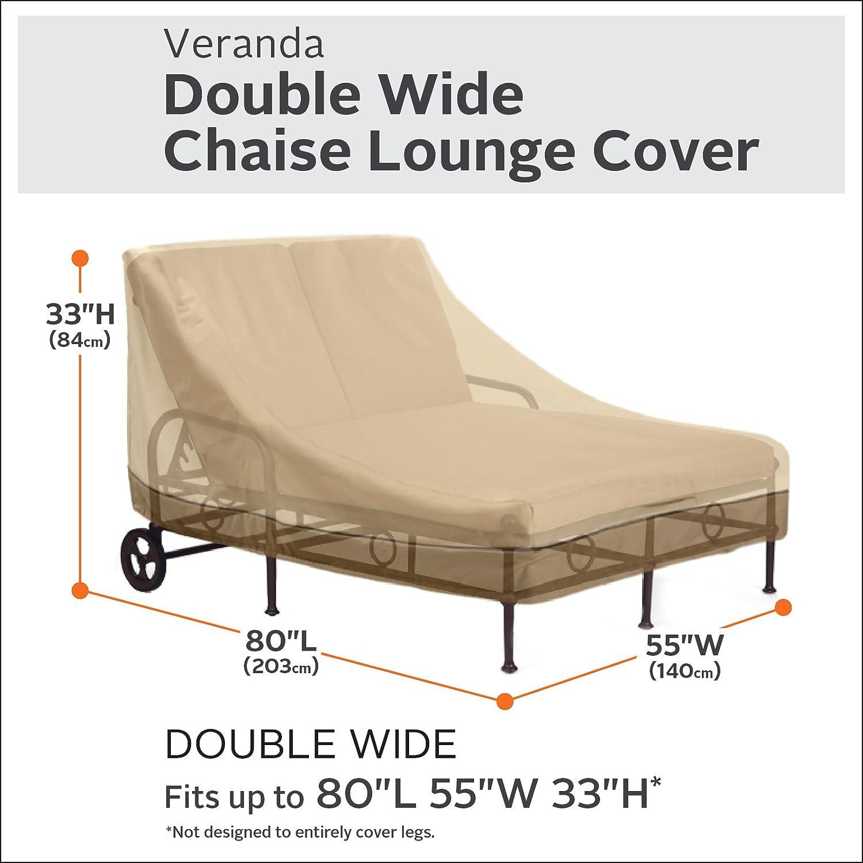 2-Pack Classic Accessories Veranda Patio Chaise Lounge Cover Medium