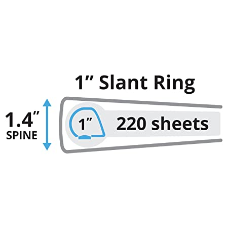 Amazon.com : Avery Durable View Binder, 1 Inch Slant Rings, 220 ...