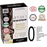 Aequo Organic Clinically Tested Doctor Recommended Hair Color Formula 4N Medium Brown