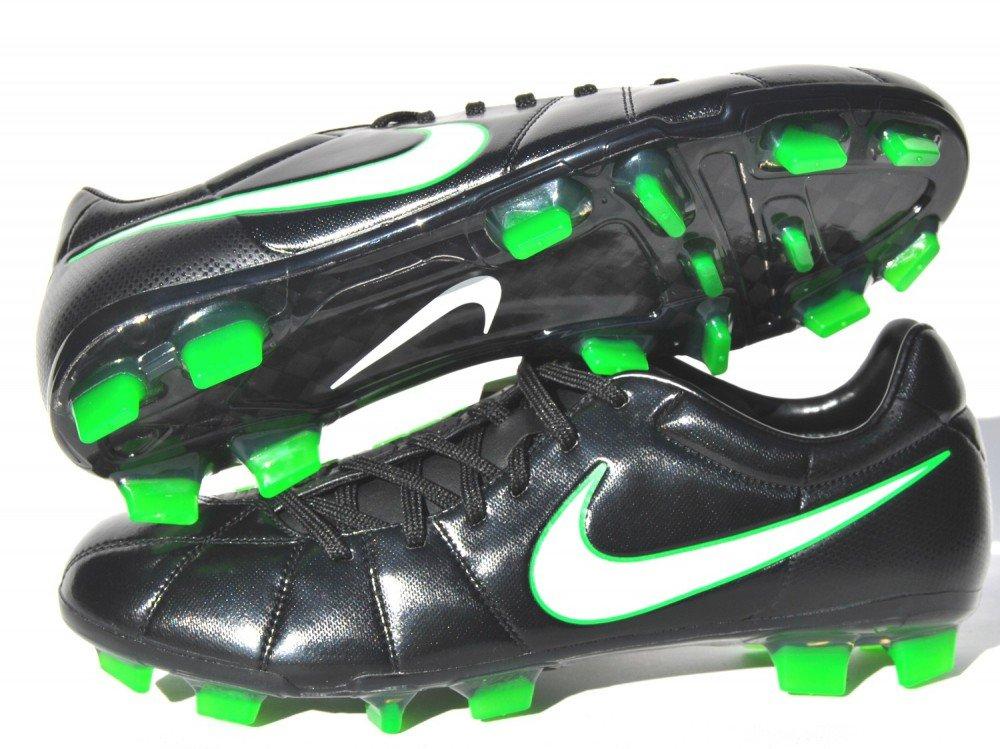 Nike - Botines de Fútbol Total 90 Lase Elite para Hombres - Para Terrenos Firmes - Color Negro / Blanco / Verde eléctrico - Negro / Blanco / Verde eléctrico ...