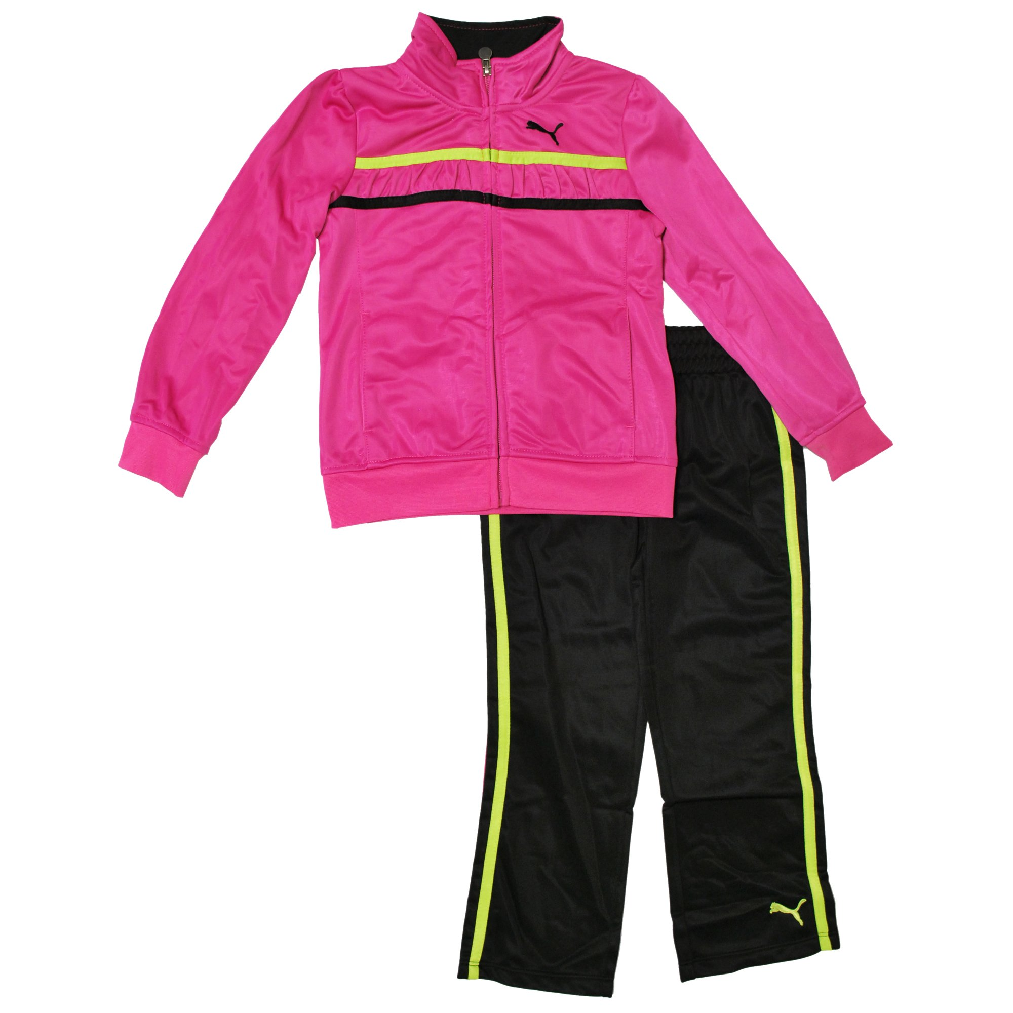 Puma Little Girls' Tape Tricot Set (2T, Pink) by PUMA