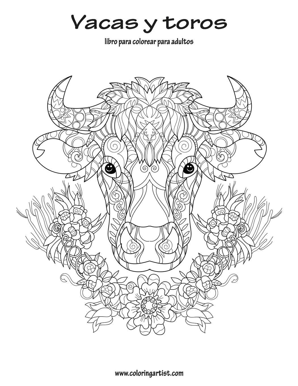 Vacas Y Toros Libro Para Colorear Para Adultos 1 Spanish Edition