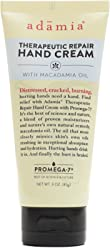 Adamia Fragrance Free Therapeutic Repair Hand Cream with Macadamia Oil, 3 Ounce