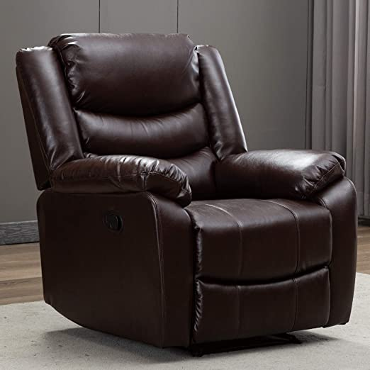 : ANJ Recliner Chair with Overstuffed Arm and Back