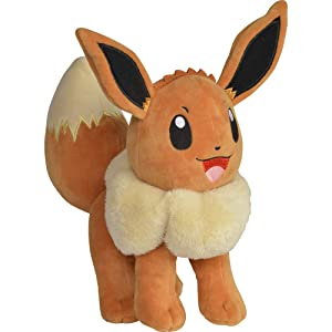 "Pokémon Eevee Plush Stuffed Animal Toy - 8"" - Age 2+"