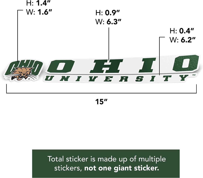 Ohio University Bobcats NCAA Name Logo Vinyl Decal Laptop Water Bottle Car Scrapbook 8 Inch Sticker