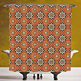 Durable Shower Curtain 3.0 by SCOCICI [ Arabian,Arabesque Islamic Geometric Oriental Ethnic Patterns and Motifs with Vintage Artful,Multicolor ] Bathroom Accessories with Hooks