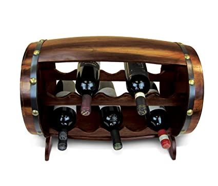Amazoncom Cota Global Wooden Wine Rack Free Standing Floor With
