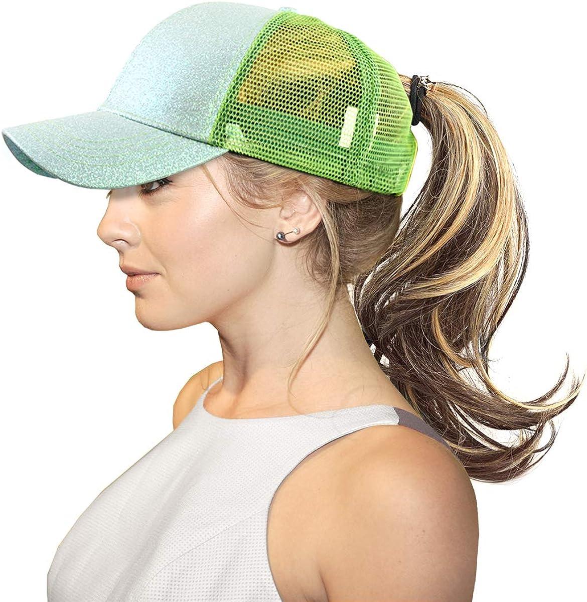 Ponytail Baseball Cap-...