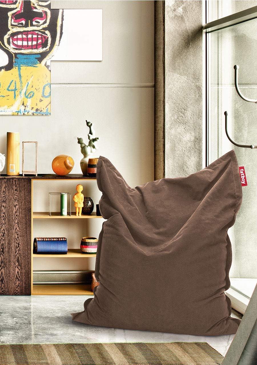 180 x 140 cm Fatboy/® Original Pouf di cotone Stonewashed Argento Poltrona a Sacco Gigante da interne in vari colori