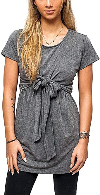 Top para Mujer Embarazada Camisa De Enfermería Plisada Color ...