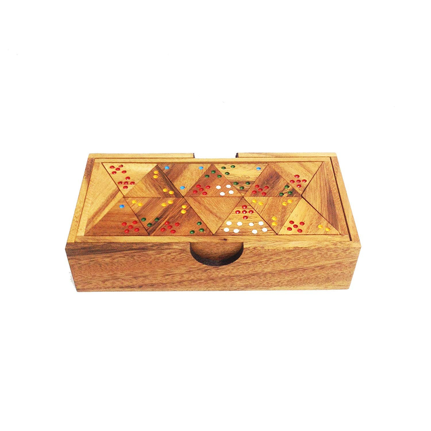 Wooden Triominos Game