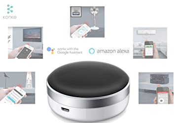 Konke Smart Home Automation WiFi + IR All-in-ONE Remote Control with iOS,  Android App | Smart Automation with Google Home and Alexa