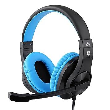 Kriogor - Auriculares de Diadema para niños, 3,5 mm, compatibles con Playstation 4, Xbox One, Ordenador portátil, Color Azul: Amazon.es: Informática