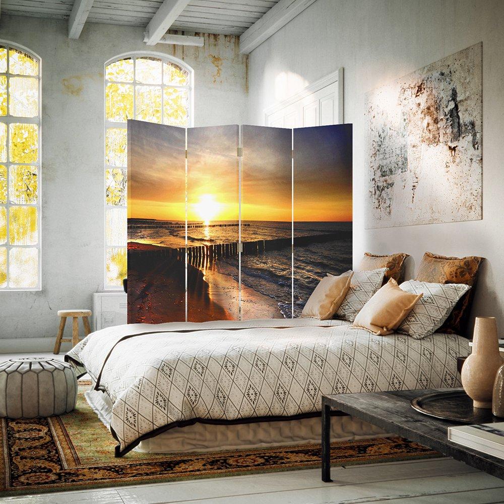 Feeby Frames 110x150 cm Cloison de s/éparation Paravent Toile Paravent 1 Face 3 Panneaux Paravent d/éco Paravent Int/érieur