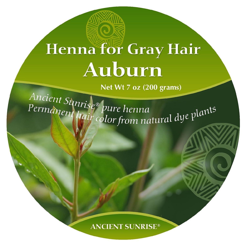 amazon com ancient sunrise henna for gray hair auburn kit beauty