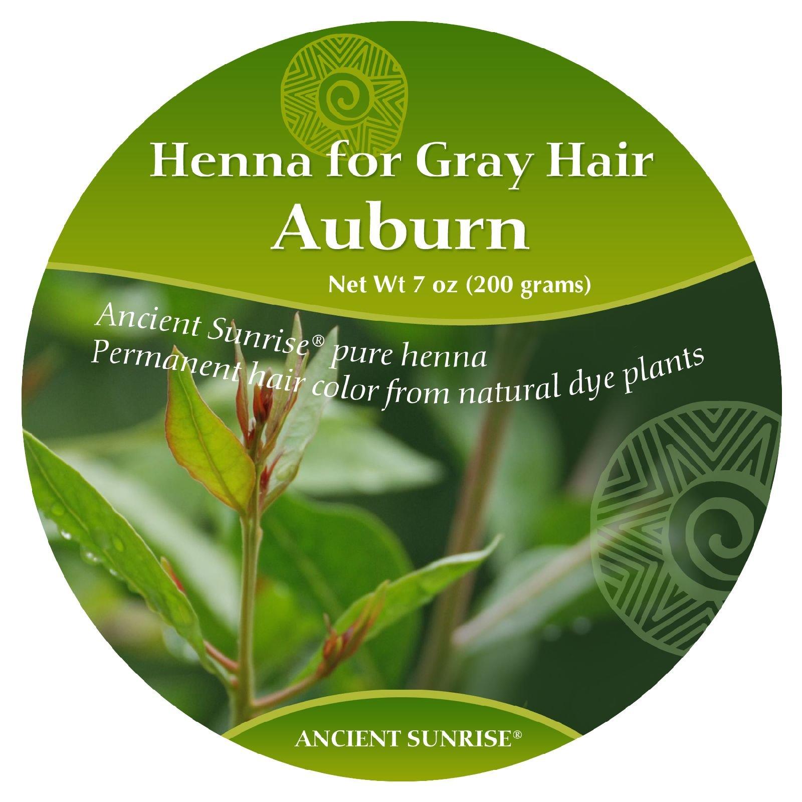 Ancient Sunrise Henna For Gray Hair Auburn Kit by Ancient Sunrise