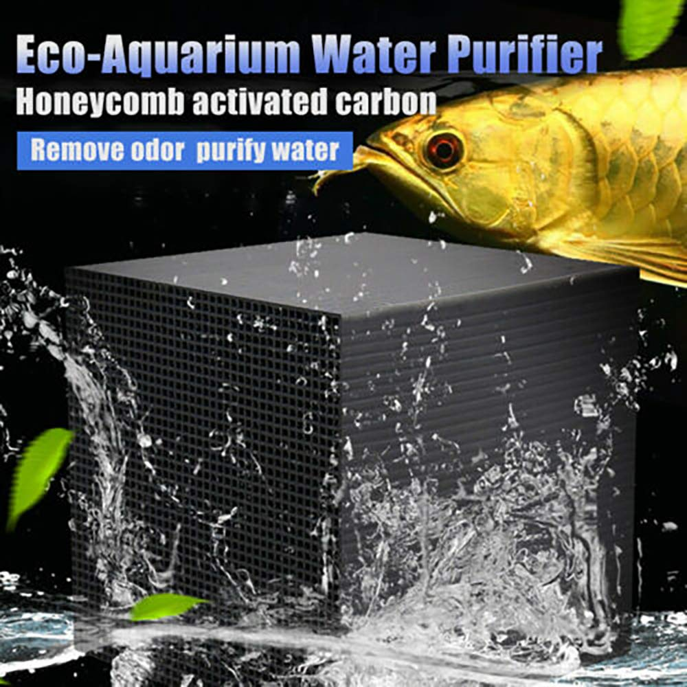 Eleductmon Eco-Aquarium Water Purifier Cube Filter Activated Carbon Ultra Strong Filtration and Absorption for Aquarium,Ponds,Fish Tank, Water Tank, Water Purification by Eleductmon