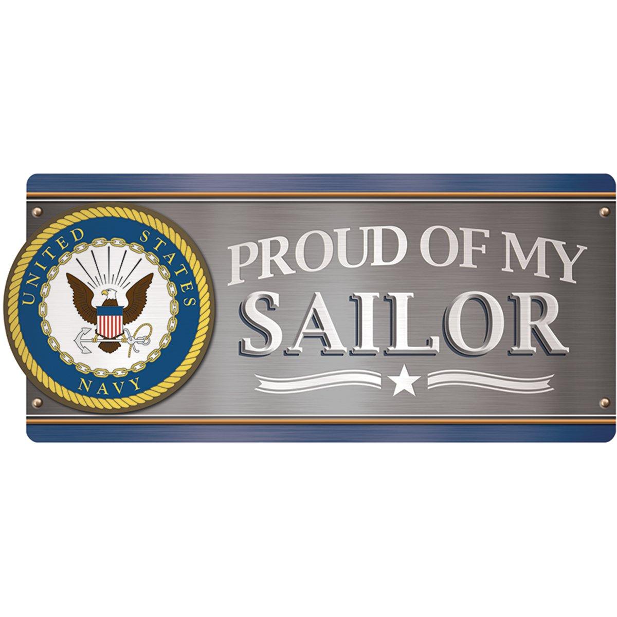 Paper House-Magnete da auto, con chiusura magnetica, colore: blu Navy, U.S. orgoglioso della mia Sailor MCAR-1057E