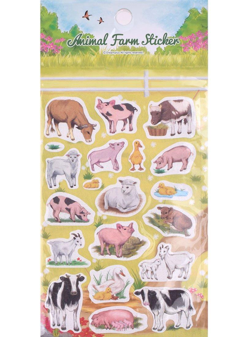 Animal Farm Sticker DF17646 Bundle of 4 sheets Daelim Enterprise