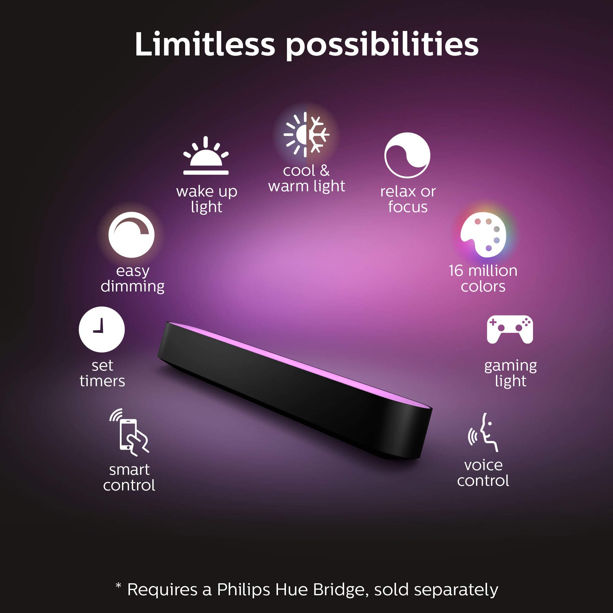 Philips - Hue Play White & Color Ambiance Smart LED Bar Light - Black (Double Pack) (Renewed) by Philips Hue (Image #4)